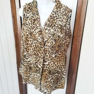 Vintage Leopard Cheetah Print swim suit coverup